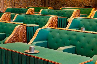 photo of seats in the Dutch Senate's Assembly hall